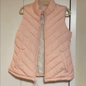 Powder pink gap vest